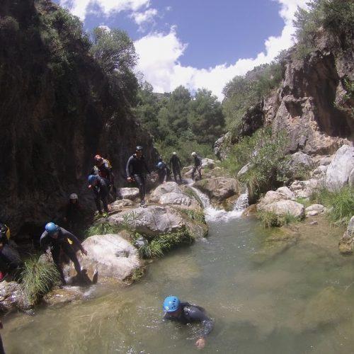 Barranquismo Río Verde Granada, Barranquismo Granada, Barranco Río verde Granada cabraloca (3)